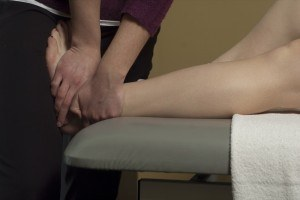 Physio treatment on ankle